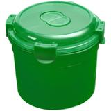 Ланчбокс Barrel Roll, круглый, зеленый фото
