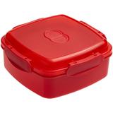 Ланчбокс Cube, квадратный, красный фото
