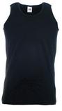 Майка мужская Fruit of the Loom Athletic Vest, черная фото