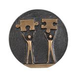 Медаль подарочная Решаем вместе, золотой фото