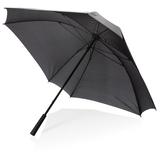 """Механический квадратный зонт с местом для логотипа, 27"""", чёрный фото"""