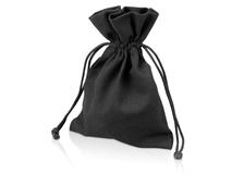 Мешочек подарочный средний, черный фото