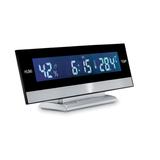 Метеостанция с часами, будильником и календарем, серый фото