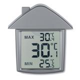 Метеостанция в форме дома, серый фото