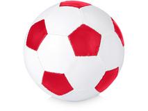 Мяч футбольный, размер 5, красный/белый фото