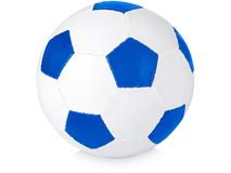 Мяч футбольный, размер 5, ярко-синий/белый фото