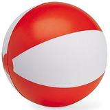 Мяч надувной ЗЕБРА, красный, 40 см фото