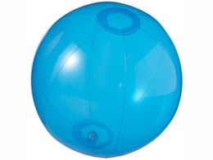 Мяч пляжный Ibiza, прозрачный, синий фото