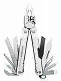 Мультитул Leatherman Super Tool, серебристый, 115 мм, 19 функций фото