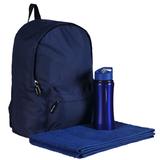 Набор: Рюкзак Rider, Спортивная бутылка Marathon Полотенце махровое Medium, Active, синий фото