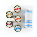 Набор алкогольного варенья, 5 банок с разными вкусами в подарочной упаковке фото