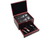 Подарочный набор для вина Прованс, прозрачный, серый, бордовый фото