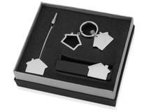 Набор аксессуаров в виде домика: подставка под визитки, держатель для документов, брелок фото