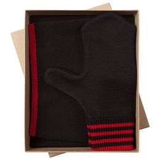 Набор Best: шапка, шарф и варежки, черно-красный фото