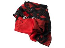 Набор: брелок, шелковый платок, браслет, красный фото