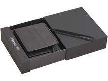 Набор: портмоне, ручка шариковая, чёрный фото
