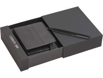 Набор: портмоне, ручка шариковая, черный фото