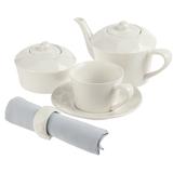 Набор чайный Diamante Bianco на 1 персону, большой, белый фото