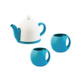 Набор чайный СлуЧАЙный восторг, белый, голубой фото