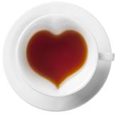 Набор для чая или кофе Сердце на 2 персоны, белый фото