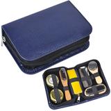 Набор для чистки одежды и обуви в пенале, 7 предметов, синий фото