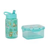 Набор для детей (контейнер для ланча, бутылка для воды, 0,45мл), зеленый фото
