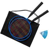 Набор для игры в бадминтон Challenger, черный/синий фото