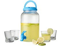 Набор для напитков Festi, прозрачный, синий фото