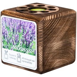 Набор для выращивания с органайзером «Экокуб Burn», лаванда, коричневый фото