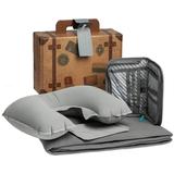 Набор дорожный My Way (плед, органайзер, подушка, дорожная бирка), серый фото