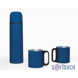 Набор Гейзер (термос, 2 кружки), покрытие soft touch фото