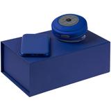 Набор Good Vibrations: аккумулятор и колонка, синий фото