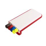 Набор Help: две цветных шариковых ручки, карандаш и маркер, красный фото