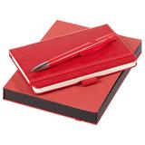 Набор Idea: блокнот Freenote, ручка шариковая Prodir, красный фото