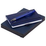 Набор Idea, синий: блокнот + авторучка фото