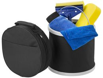 Набор из 6 предметов для мойки автомобиля, черный, синий, желтый фото