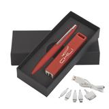 Набор из ручки, флеш-карты и зарядного устройства  фото