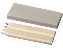 Набор карандашей: 4шт в картонной коробке, серый фото