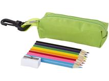 Набор цветных карандашей, зеленый фото