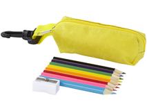 Набор цветных карандашей, желтый фото