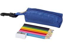 Набор цветных карандашей, синий фото