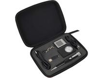 Набор Силиконовая долина: брелок-цифровая фоторамка, USB хаб, картридер, черный/коричневый фото
