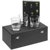 Набор «Культура пития», с бокалами для виски, чёрный фото