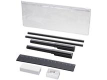 Набор Mindy: ручки шариковые, карандаши, линейка, точилка, ластик, чёрный фото