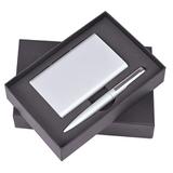 Набор Mirror: ручка, внешний аккумулятор 6000 mAh, кабель 3-в-1, серебристый фото