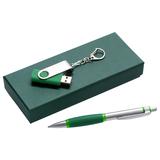 Набор Notes: ручка и флешка 8 Гб, зеленый фото