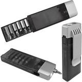 Набор отверток с фонариком, черный/ серый фото