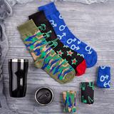 Набор подарочный Brighttight: термокружка, носки, разноцветный фото