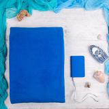 Набор подарочный Comfsy: плед, зарядное устройство, синий фото