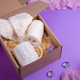 Набор подарочный KeepWarm: кружка, носки, белый фото